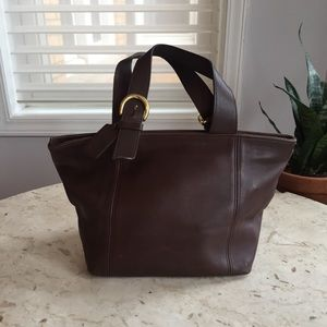 fc28e4646cb9 Vintage Coach Purse brown leather